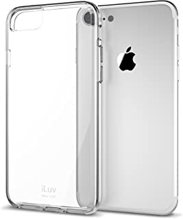 iLuv iPhone 8/ iPhone 7 Durable Dual Material Protective Case with Hard Plastic Clear Back, Soft TPU Frame, Ultra-thin Lightweight Design, Raised Lip on Front, and Access to All Ports/Controls(Clear)