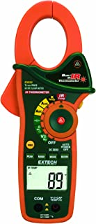 Extech EX830 True RMS 1000 Amp AC/DC Clamp Meter with Infrared Thermometer