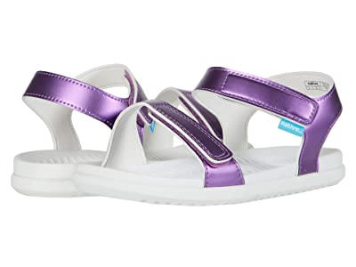 Native Kids Shoes Charley Metallic (Little Kid) (Lavender Metallic/Shell White) Girl