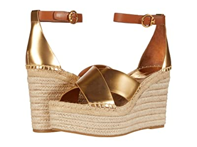 Tory Burch Selby 105 mm Wedge Espadrille (Old Gold/Ambra) Women