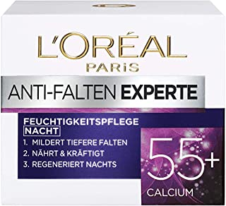 L'Oréal Paris Nachtverzorging voor het gezicht, hydraterende anti-aging nachtcrème met calcium ter vermindering van rimpel...