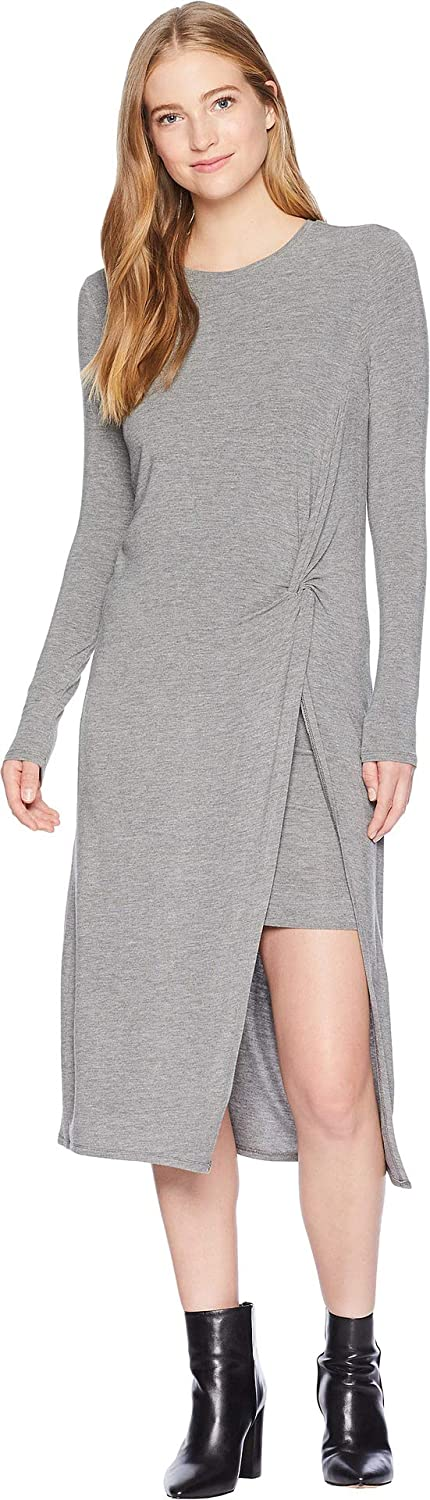 BCBGMAXAZRIA Womens Round Neck Dress