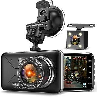 【2020年最新版&フルHD1080P】 ドライブレコーダー 前後カメラ デュアルドライブレコーダー 1800万画素 170°広視野角 G-sensor WDR ドラレコ 4.0インチモニター ループ録画 リアカメラ付き Romu