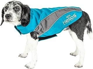 DOGHELIOS 'High Octane' Softshell Neoprene Polar Fleece Reflective Performance Pet Dog Coat Jacket w/Blackshark technolog...