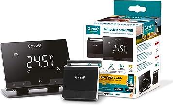 Garza 401267 Smarthome Termostato Smart Wifi Inteligente para Caldera y Cafación, Táctil y Programab, Control Por Voz y Ap...