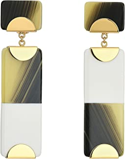 Resin Color Block Drop Earrings
