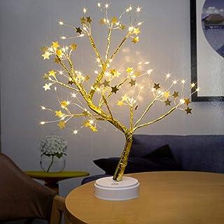 Amusingtao Ledlamp, bonsai-boom, tafellamp, bonsai-ruimte, 108 leds, kunstboom, batterij/USB, voor slaapkamer, desktop, de...