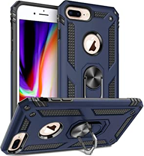 Storm-Buy Shockproof Kickstand Phone Case Compatible for [ iPhone 6 Plus Case | iPhone 6s Plus [Shock Absorption] 12ft. Drop Tested Protective Cover for (Blue-IP6P)