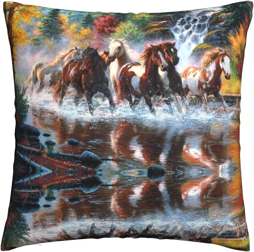 PNdeid American Indians Horses Throw Max 70% OFF Pillow Ranking TOP13 Cover Cus Decorative