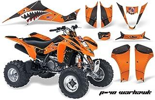AMR Racing Graphics Kit for ATV Suzuki LTZ 400 2003-2008 P40 WARHAWK ORANGE BLACK