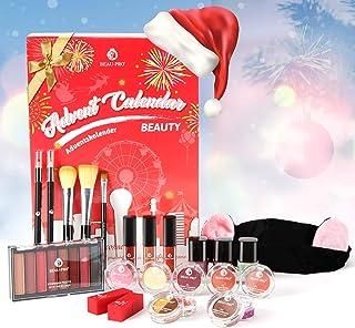 Calendrier de l'Avent Beauté 2020 Avec un Cadeau Cosmétique Exquis, 24 Excellents Produits de Beauté pour Femmes, Adolesce...