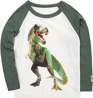 Teddlor Boys T-Rex Long Sleeve Dinosaur T Shirt