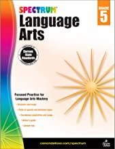 Carson Dellosa – Spectrum Language Arts, Focused Practice for Language Arts Mastery for 5th Grade, 176 Pages, Ages 10–11 with Answer Key