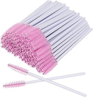 AKStore 100 PCS Disposable Eyelash Brushes Mascara Wands Eye Lash Eyebrow Applicator Cosmetic Makeup Brush Tool Kits (Whit...