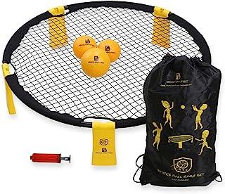 Bochamtec Strikeball 3 Ball Game Kit - Updated Bounce Net Includes Playing Net, 3 Balls, Carring Bag, Rule Book