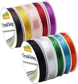 EuTengHao 10 Packs Crystal String 0.8mm Elastic String Elastic Cord Stretchy Bracelet String Bead Cord for Bracelet, Beadi...