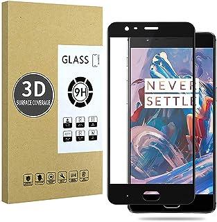 E-Hamii 3Dスクリーン保護フィルム、OnePlus 3に互換(ブラック)、9H強化ガラス、HD完全保護、スクラッチ防止、指紋防止