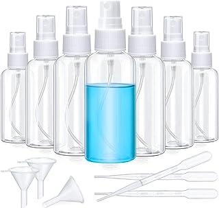 12 Pieces Plastic Clear Spray Bottles Refillable Fine Mist Sprayer Reusable Transparent Empty Travel Bottle Liquid Containers for Essential Oils Perfumes Cosmetic Makeup (2 oz/ 60 ml)