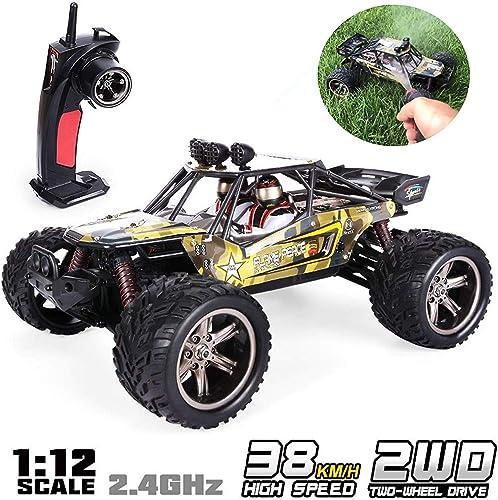 GPTOYS Ferngesteuertes fürzeug RC Autos 1 12 Skala 2WD 2.4 GHz 26+MPH Halb-Wasserdicht Monstertruck Gel ewagen --- Geschenk für Kinder