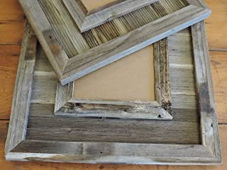 11x14 Durango Picture Frame Reclaimed Barn Wood Large Western Wedding Photo Gallery Real Weathered Decorative Rustic Farmhouse Decor Style Country Wall Over Mantle Living Room Family Painting Canvas