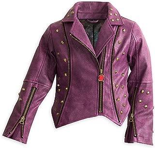 Descendants Faux Leather Moto Jacket for Girls Purple