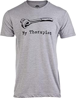 My Therapist (Socket Wrench) | Funny Car Auto Racing Mechanic Manual Man T-Shirt