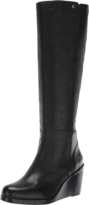 Frye Womens Emma Wedge Tall Fashion Boot