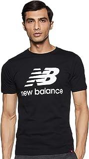New Balance mens NB Essentials Stacked Logo Tee T-Shirt