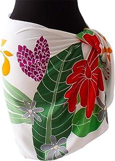 (ラナイブルー) 高品質な手染めのパレオ ショート ハーフ タヒチアン レーヨン 2色