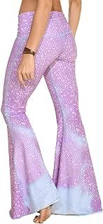 Women's Bell Bottom, Mermaid Fairyqueen Lavender Pattern