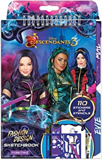 Best Make It Real - Disney Descendants 3 Sketchbook. Fashion Design Drawing and Coloring Book for Girls. Includes Evie and Descendants 3 Sketch Pages, Stencils, Stickers, and Design Guide Review