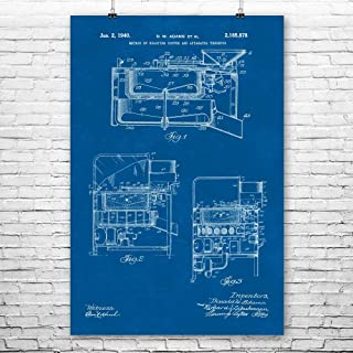 Pan Coffee Roaster Poster Print, Barista Gifts, Coffee Shop, Espresso Bar, Culinary Gifts, Tea House, Cafe Owner Blueprint (18