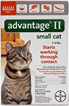 Bayer Animal Health Advantage II Small Cat 6-Pack