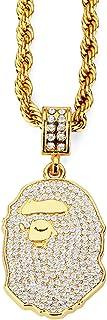 مرحبا الحب هدية عيد الحب قلادة مجوهرات الحيوانات المثلج للرجال مغني الراب قلادة الشرير الهيب هوب قلادة