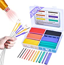 Pointool Wire Heat Shrink Tubing-140Pcs 3:1 Heat Shrink Tube Kit Wire Shrink Wrap Electrical Waterproof Automotive Marine Heat Shrink Wrap Tubing Assortment with Adhesive Lined for Wires
