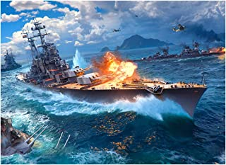 Warships Wooden Jigsaw Puzzle for Adults IQ Game Intellectual Hands-On Challenge Brain Leisure Time Home Decoration Gift- ...