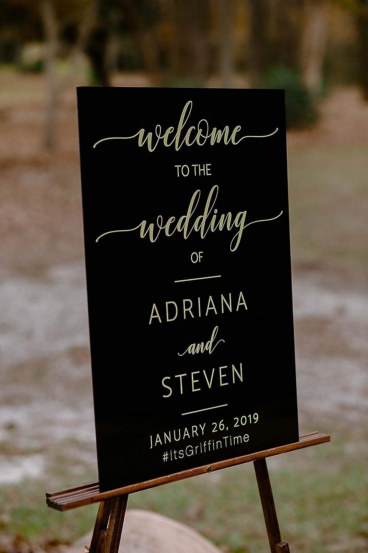 Acrylic Miami Mall Wedding Welcome 18