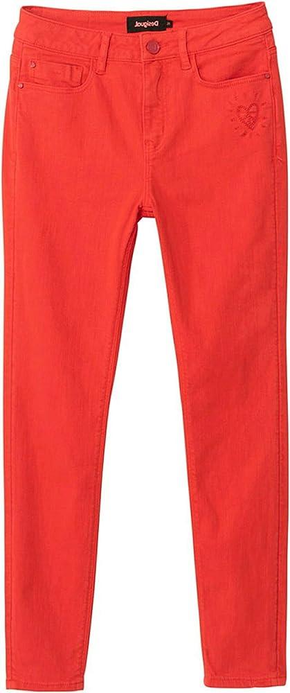 Desigual ,pantaloni casual per donna,90% cotone, 8% polyestere, 2% elastane 21SWPN08