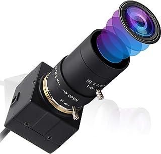 ELP 500万画素 バリフォーカルレンズ USB ウェブカメラ 高解像度 1944P ウェブカメラ 2.8-12mm バリフォーカルレンズ カメラ フルHD 高速1944P 15FPS / 1080P 30FPS ミニカメラ プラグアンドプレ...
