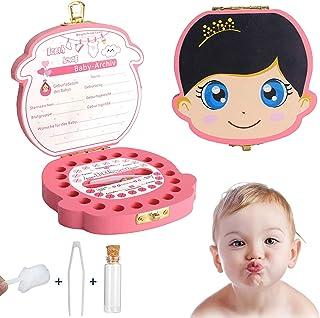 Boîte à Dents en Bois pour Dents de Lait,Boîte à Dents de Lait en Bois,Boîte à Dents pour Enfants,Cadeau pour Enfants en B...