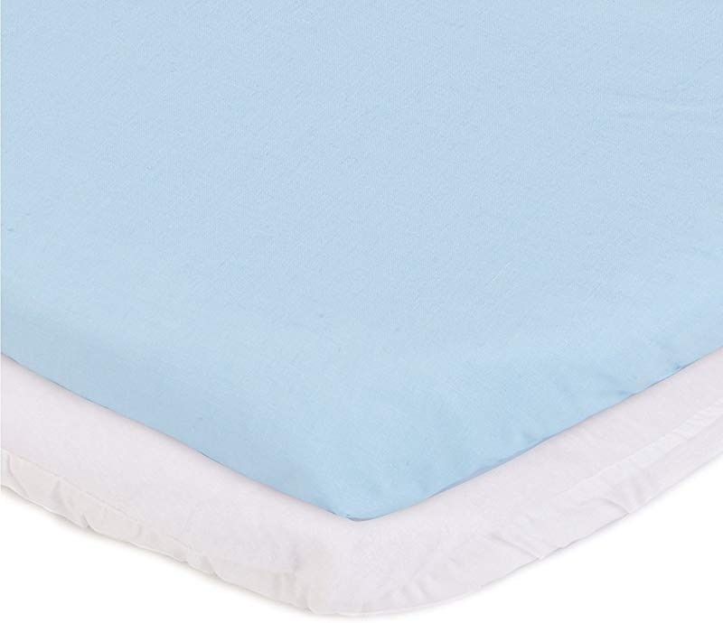 ABaby Cradle Mattress Protector And Sheet Combo Blue 15 X 33