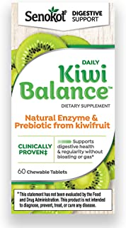 Senokot Daily Kiwi Balance Digestion and Regularity Support Dietary Supplement Chewable Tablet (60 Count)