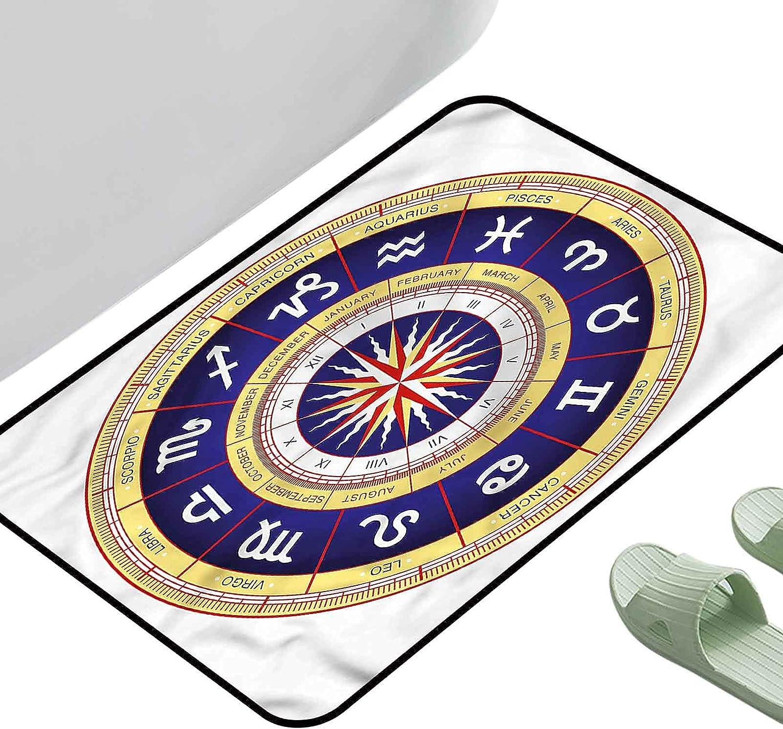 Anti-Slip Coffee Table Floor Mats Astrology Max 85% OFF Zodiac Virgo free shipping Cancer