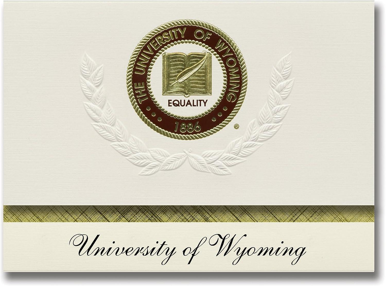 Signature Ankündigungen Universität von Wyoming Abschluss Ankündigungen, platin Stil, Elite Pack 20 mit u. der Wyoming Dichtung Folie B0793NBL53    | Günstigen Preis