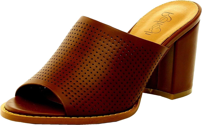 Refresh Footwear Women's Stacked Chunky Heel Clog Mule