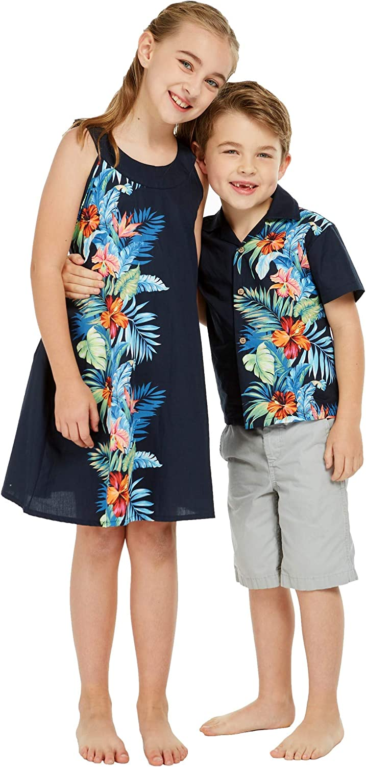 Matching Boy and Girl Siblings Hawaiian Tampa Mall Flo in Side Memphis Mall Outfits Luau