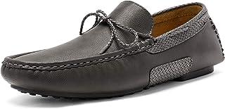 Bruno Marc Men's Santoni-01 Grey Penny Loafers Moccasins Shoes Size 9 M US