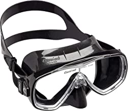 Cressi Onda Scuba Diving Snorkel Mask, Made in Italy - Black/Black, Adult Size