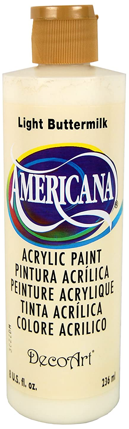 DecoArt DA164-9 Americana Acrylics, 8-Ounce,Light Buttermilk