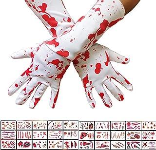 30 Sheet Halloween Scars Tattoos Stickers Simulation Wound Bleeding Scar Blood Tattoos Stickers,1 Pair Halloween Blood Pri...